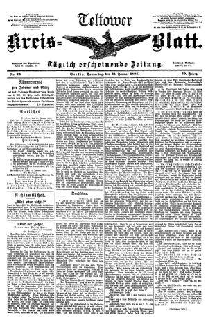 Teltower Kreisblatt vom 31.01.1895