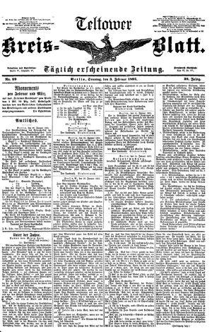 Teltower Kreisblatt vom 03.02.1895