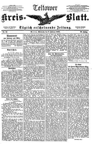 Teltower Kreisblatt vom 06.02.1895
