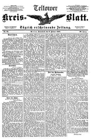 Teltower Kreisblatt vom 09.02.1895