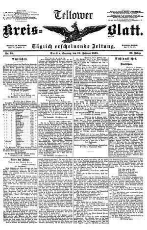 Teltower Kreisblatt vom 10.02.1895