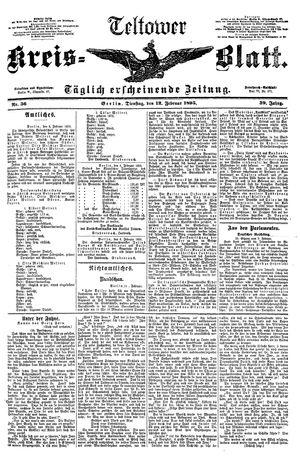 Teltower Kreisblatt vom 12.02.1895