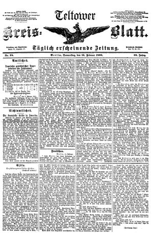 Teltower Kreisblatt vom 14.02.1895