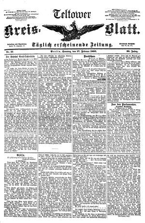 Teltower Kreisblatt vom 17.02.1895