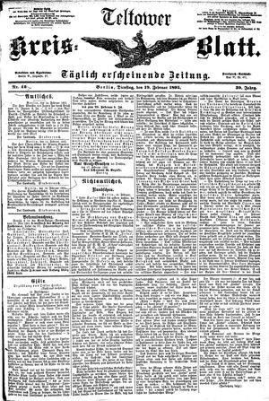 Teltower Kreisblatt vom 19.02.1895