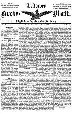 Teltower Kreisblatt vom 20.02.1895