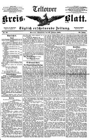 Teltower Kreisblatt vom 23.02.1895