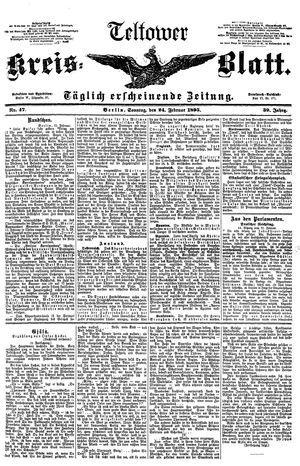 Teltower Kreisblatt on Feb 24, 1895