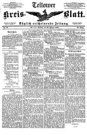 Teltower Kreisblatt vom 26.02.1895