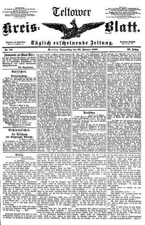 Teltower Kreisblatt vom 28.02.1895