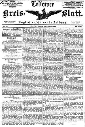 Teltower Kreisblatt vom 05.03.1895