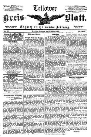 Teltower Kreisblatt vom 10.03.1895