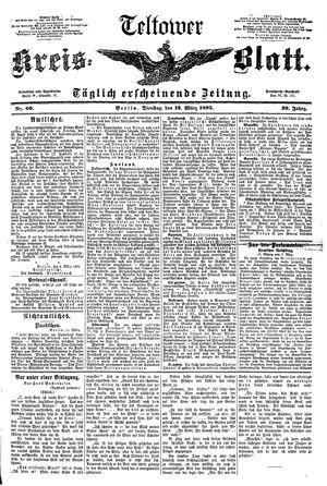 Teltower Kreisblatt vom 12.03.1895