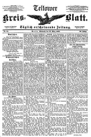 Teltower Kreisblatt vom 13.03.1895