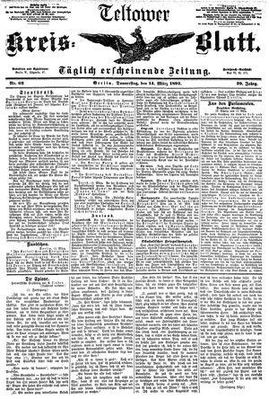 Teltower Kreisblatt vom 14.03.1895