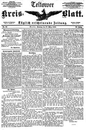Teltower Kreisblatt on Mar 17, 1895