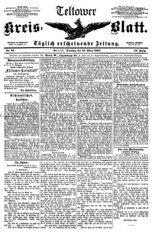 Teltower Kreisblatt on Mar 19, 1895