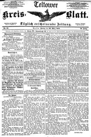 Teltower Kreisblatt on Mar 22, 1895