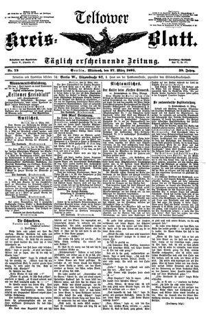 Teltower Kreisblatt vom 27.03.1895