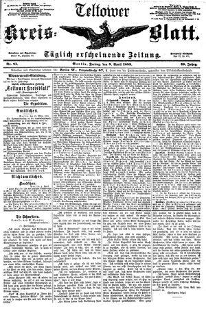 Teltower Kreisblatt vom 05.04.1895