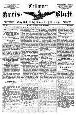 Teltower Kreisblatt vom 07.04.1895