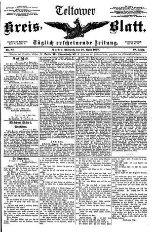 Teltower Kreisblatt vom 10.04.1895