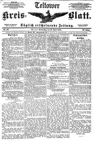Teltower Kreisblatt vom 18.04.1895