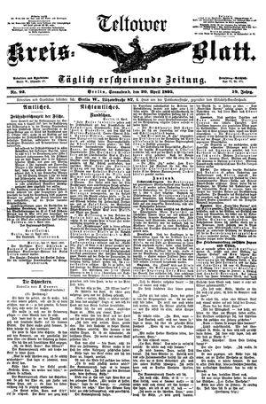Teltower Kreisblatt vom 20.04.1895