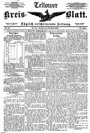 Teltower Kreisblatt vom 23.04.1895