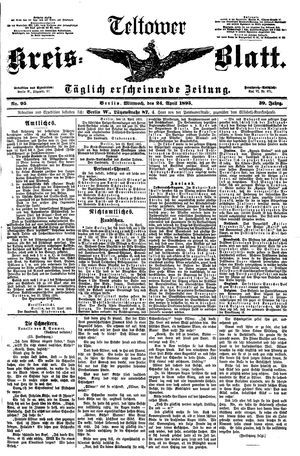 Teltower Kreisblatt vom 24.04.1895