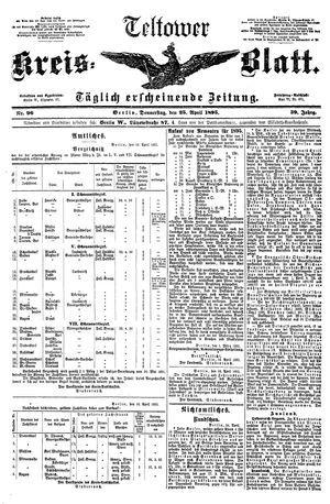 Teltower Kreisblatt vom 25.04.1895