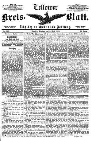 Teltower Kreisblatt vom 30.04.1895
