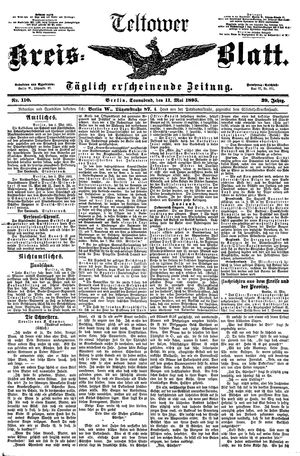 Teltower Kreisblatt vom 11.05.1895