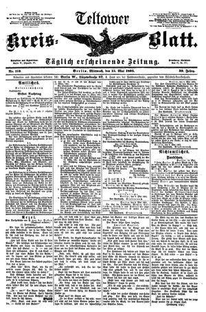 Teltower Kreisblatt vom 15.05.1895