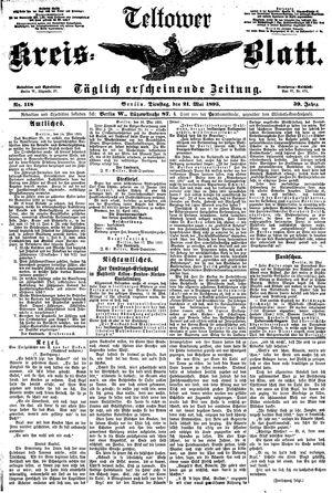 Teltower Kreisblatt vom 21.05.1895