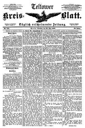 Teltower Kreisblatt vom 28.05.1895