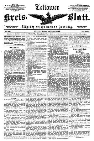 Teltower Kreisblatt vom 07.06.1895