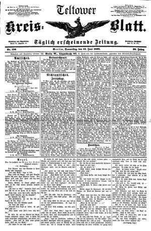 Teltower Kreisblatt vom 13.06.1895