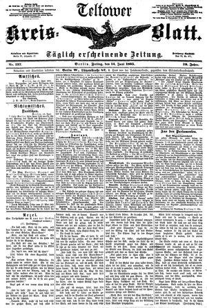 Teltower Kreisblatt vom 14.06.1895