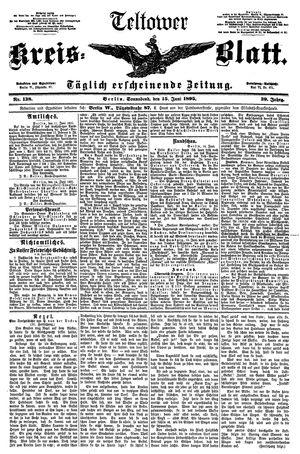 Teltower Kreisblatt vom 15.06.1895