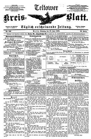 Teltower Kreisblatt vom 16.06.1895