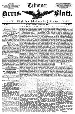 Teltower Kreisblatt vom 18.06.1895
