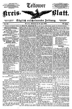 Teltower Kreisblatt vom 19.06.1895