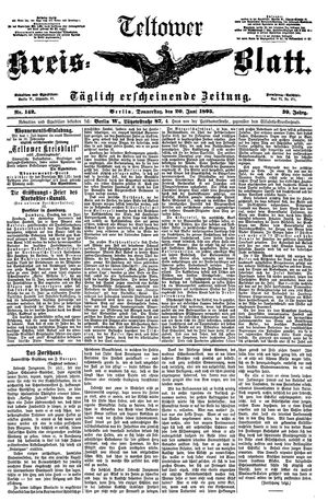 Teltower Kreisblatt vom 20.06.1895
