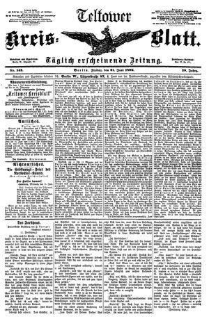 Teltower Kreisblatt vom 21.06.1895
