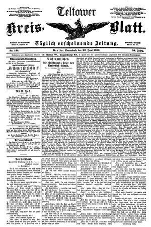 Teltower Kreisblatt vom 22.06.1895