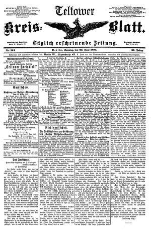 Teltower Kreisblatt vom 23.06.1895