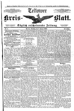 Teltower Kreisblatt vom 07.01.1896