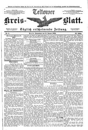 Teltower Kreisblatt vom 11.01.1896