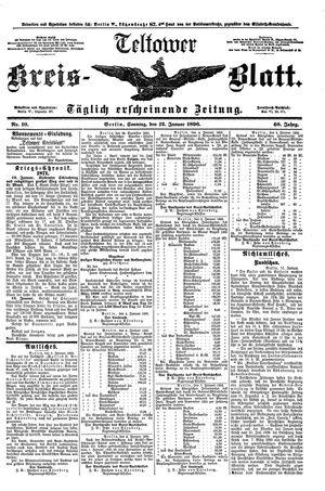 Teltower Kreisblatt vom 12.01.1896